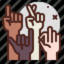 blacklivesmatter, diversity, protest, racism, support icon