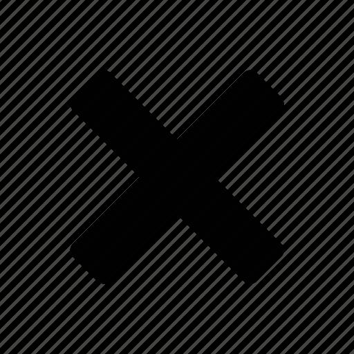 cancel, cross, delete, exit, remove, stop, trash icon
