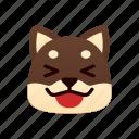 laugh, black shiba inu, emoji, emotional, funny, laughing, joke