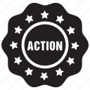 action, tag, label