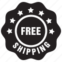 delivery, free, label, shipping icon