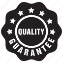 guarantee, guaranteed, label, quality icon