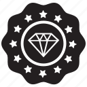 assets, diamond, expensive, featured, label, valuable icon