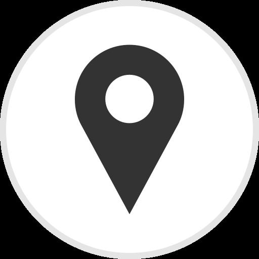 location, logo, media, pin, social icon