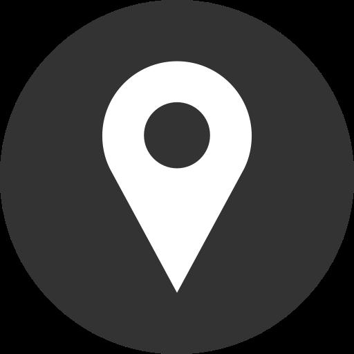 location, logo, media, social icon