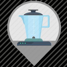 blender, kitchen, pointer, technics icon