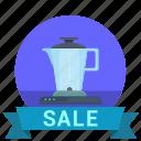 blender, kitchen, mixer, sale, shop, technics icon
