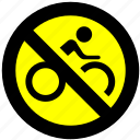 bicycle, block, non-motor vehicle icon