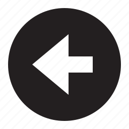 arrow, circle, direction, last, left icon