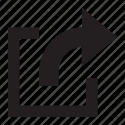 action, box icon
