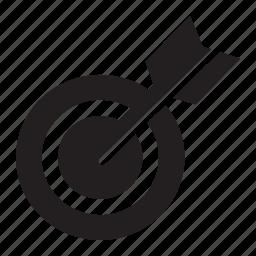 arrow, bullseye icon