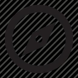 arrow, browser, compass, direction, navigate, safari icon
