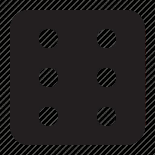 dice, six icon