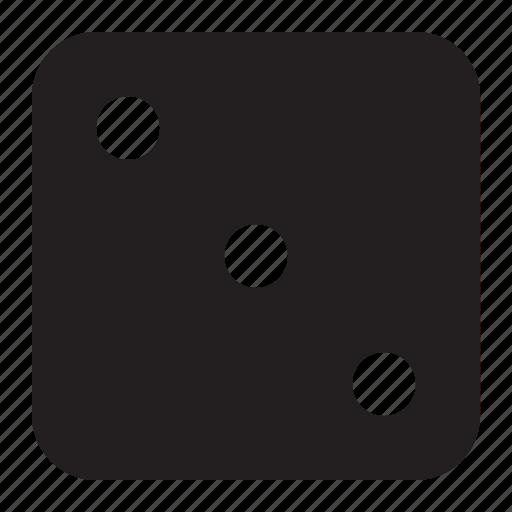 cube, dice, games, three icon