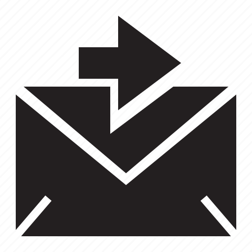 arrow, email, forward, send, sending, sent icon