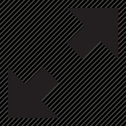 arrows, diagnol, expand, zoom icon