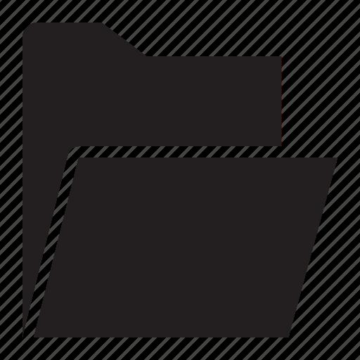 folder, open, upload icon