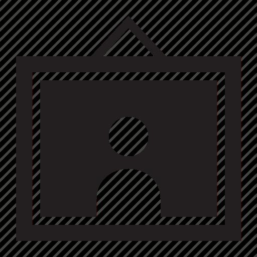 frame, person icon