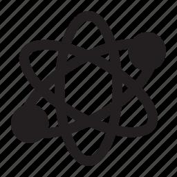 atom, discovery, genius, innovation, molecule, quantum, science icon