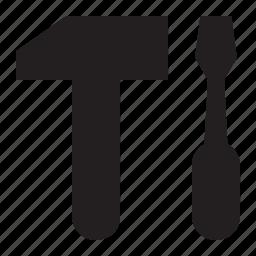 hammer, screwdriver icon
