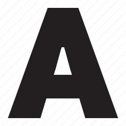 a, alphabet, letter, text icon