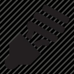 compact, lightbulb icon