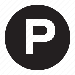 p sign, parking, street signs, transportation, trucking icon
