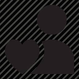 love, person icon