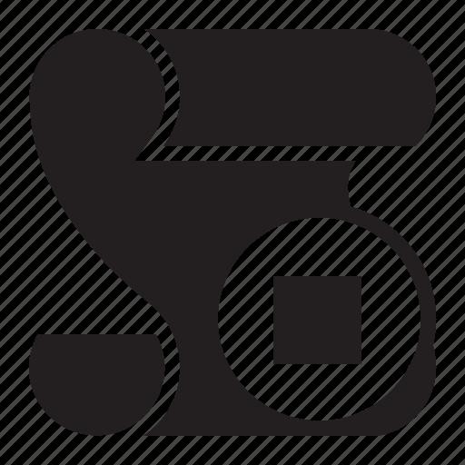 script, stop icon