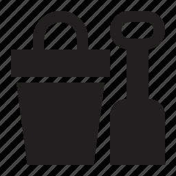 pail, shovel icon
