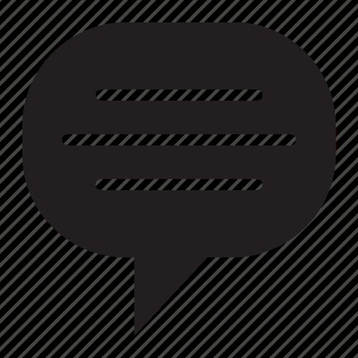 bubble, speech, text icon