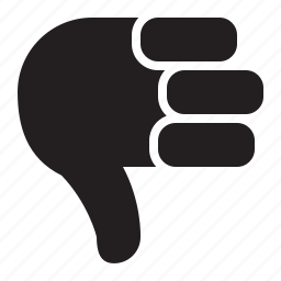 down, thumbs icon