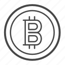 bitcoin, blockchain, coin, crypto, currency, money icon