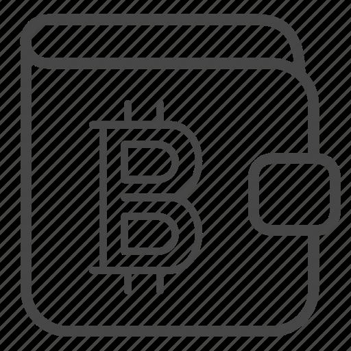 Bitcoin Blockchain Crypto Currency Money Wallet Icon