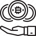 bitcoin, blockchain, crypto, cryptocurrency, currency, exchange icon