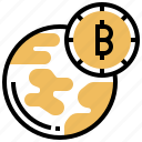 address, bitcoin, connection, currency, worldwide icon