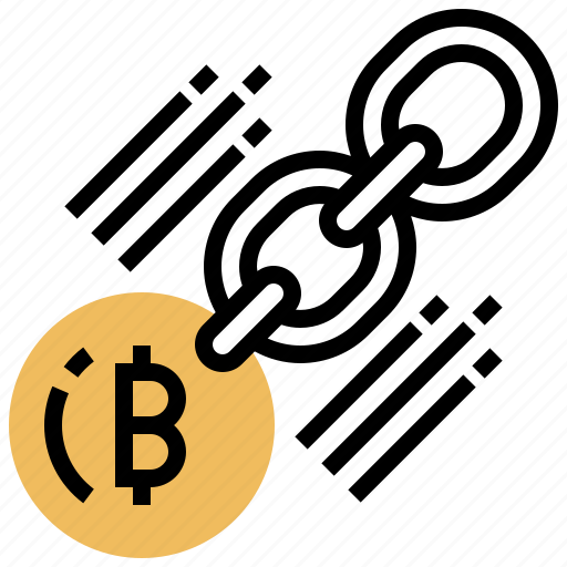 bitcoin, chain, digital, investment, transaction icon