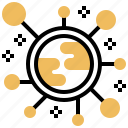 chain, connection, cryptocurrency, distribution, exchange icon