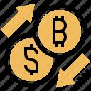 bitcoin, commerce, currency, exchange, money