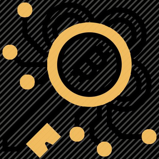bitcoin, digital, encrypted, key, protection icon