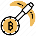 banking, bitcoin, blockchain, cryptocurrency, miner icon