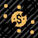 bitcoin, block, miners, reward, transaction icon