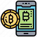 application, bitcoin, smartphone, trade, transaction