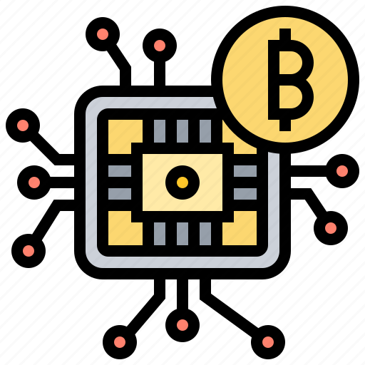 cryptocurrency, digital, finance, microchip, network icon