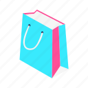 bag, buy, camping, cart, ecommerce, fashion, isometric, money, shop, shopping, travel icon