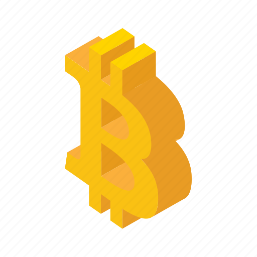 bitcoin, blockchain, btc, coin, cryptocurrency, isometric, platform icon