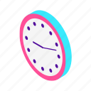 alarm, business, calendar, clock, event, isometric, time, timer, watch icon