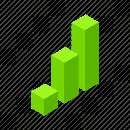 analytics, business, chart, colum, data, diagram, finance, graph, growth, infographic, isometric, statistics icon