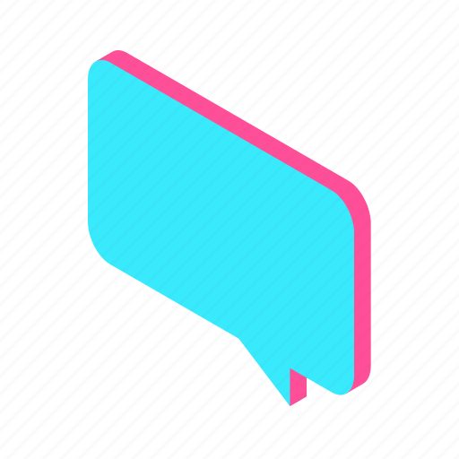 article, blog, bubble, chat, comment, communication, conversation, isometric, message, post icon