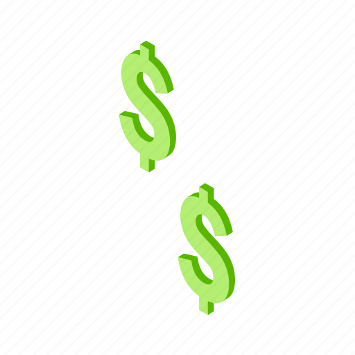 business, cash, currency, dollar, fiat, finance, isometric, money, payment icon
